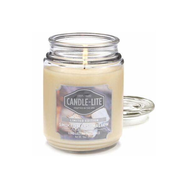 Candle-lite Everyday duża świeca zapachowa w szklanym słoju 145/100 mm 510 g ~ 110 h - Smoked Marshmallow