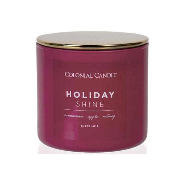 Colonial Candle Pop Of Color sojowa świeca zapachowa w szkle 3 knoty 14.5 oz 411 g - Holiday Shine