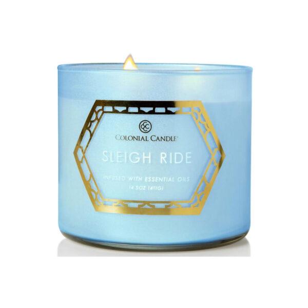 Colonial Candle Pop Of Color sojowa świeca zapachowa w szkle 3 knoty 14.5 oz 411 g - Sleigh Ride
