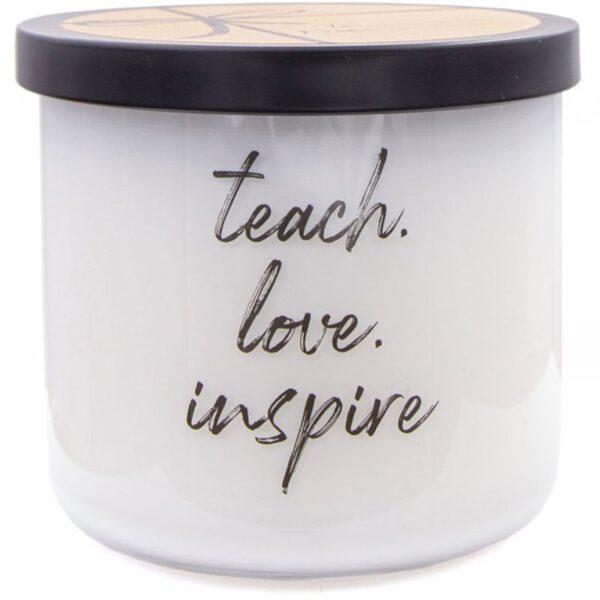 Colonial Candle Luxe sojowa świeca zapachowa w szkle 3 knoty 14.5 oz 411 g - Teach Love Inspire