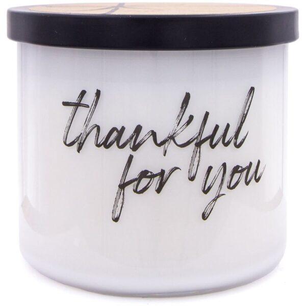 Colonial Candle Luxe sojowa świeca zapachowa w szkle 3 knoty 14.5 oz 411 g - Thankful For You