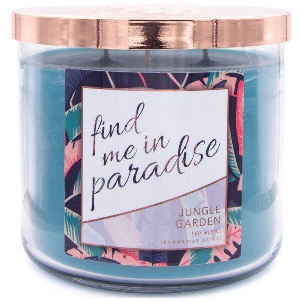 Colonial Candle Luxe sojowa świeca zapachowa w szkle Flaming 3 knoty 14.5 oz 411 g - Find Me In Paradise