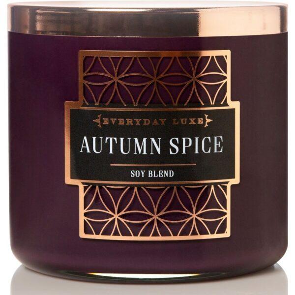 Colonial Candle Luxe sojowa świeca zapachowa w szkle drewniany knot 14.5 oz 411 g - Autumn Spice