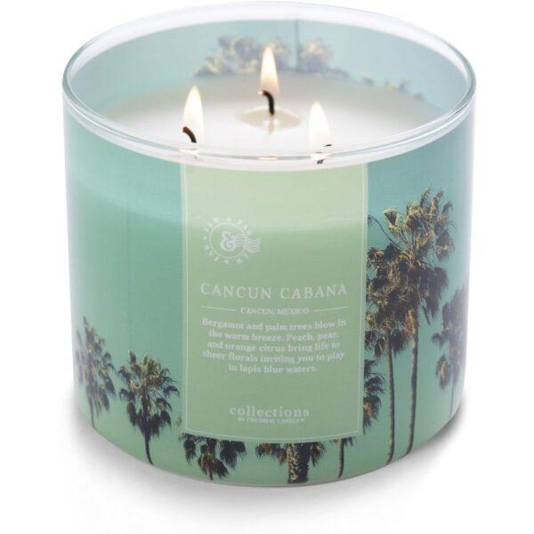 Colonial Candle Travel sojowa świeca zapachowa w szkle 3 knoty 14.5 oz 411 g - Cancun Cabana