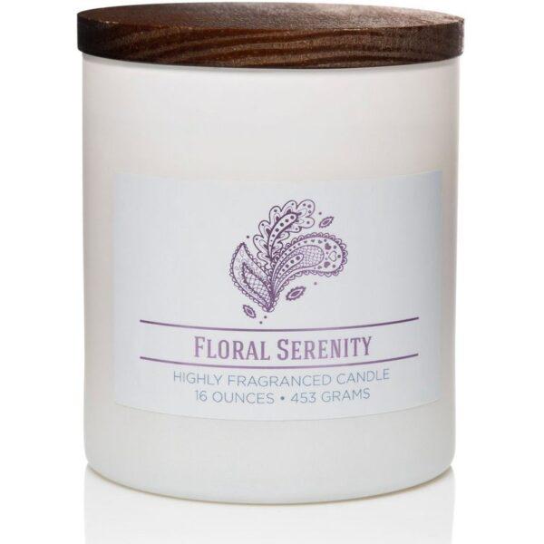 Colonial Candle świeca zapachowa sojowa w szkle naturalna 16 oz 453 g - Floral Serenity