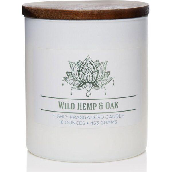 Colonial Candle świeca zapachowa sojowa w szkle naturalna 16 oz 453 g - Wild Hemp & Oak